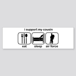 Eat Sleep Air Force - Support Cousin Sticker (Bump